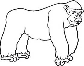 gorilla coloring pages free zoo animals coloring pages