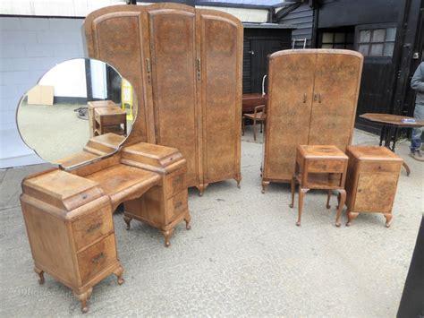 Deco Bedroom Suite For Sale by Deco Burr Walnut Bedroom Suite Antiques Atlas