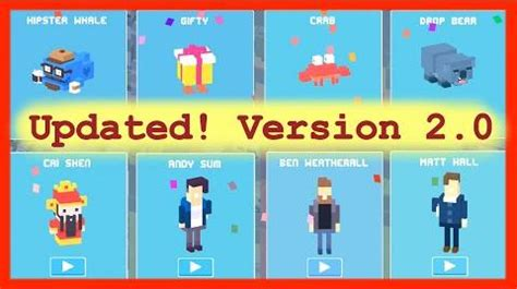 all the mystery characters in cross road video unlock all 8 mystery secret characters crossy