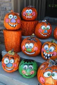 pumpkins painted 30 happy pumpkin faces carving patterns designs