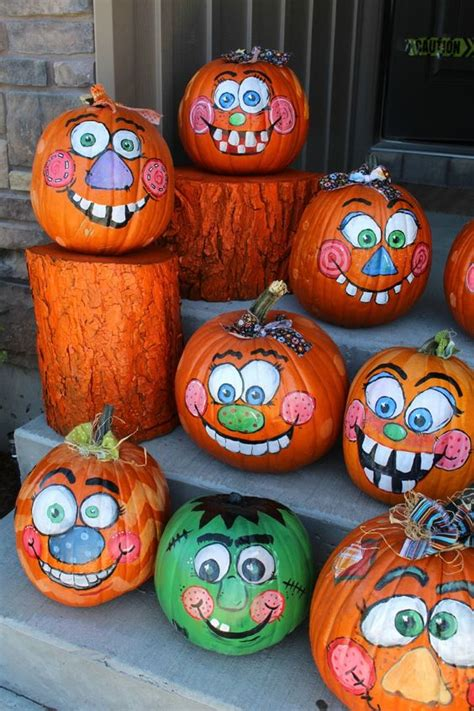 painted pumpkins 30 happy pumpkin faces carving patterns designs