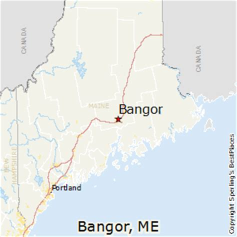 bangor maine map best places to live in bangor maine