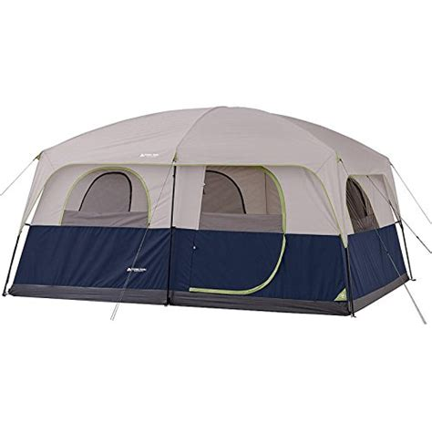 ozark 10 person 2 room cabin tent waterproof rainfly