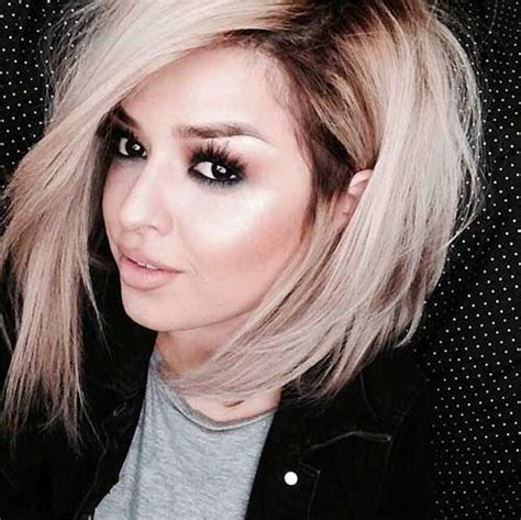 ombre colored hair cut in a line bob 15 short blonde ombre hair the best short hairstyles for