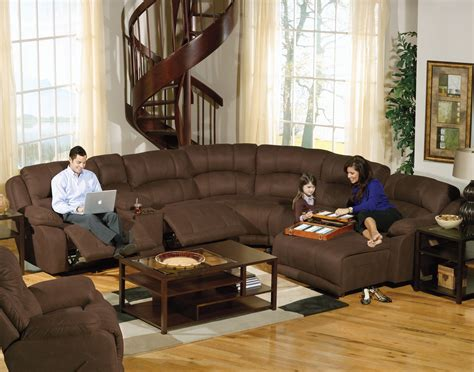 Two Seater Recliner Sofa Brown Velvet Padded Sectional Sofa With Footrest Of