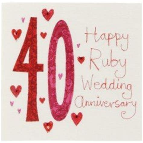 Ruby Wedding Anniversary Quotes by Image Gallery Happy Ruby Anniversary