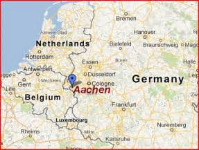 germany belgium map aachen map the independent tourist