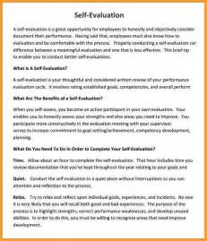 Evaluation Letter Employee Employee Self Evaluation Sle Child Care Employee Self Evaluation Form Employee Self