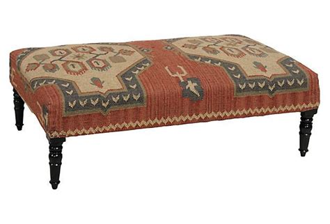 Kilim Coffee Table Kilim Ottoman Coffee Table Eclectic Iron And Kilim Upholstered Coffee Table Ottoman Zin Home