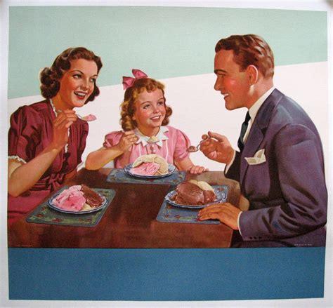 vintage scene photos 1950 s retro antique ice cream family scene vintage poster