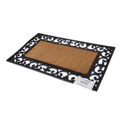 Large Outdoor Doormats Coir Rubber Door Mat Indoor Outdoor Use Large Wrought Iron
