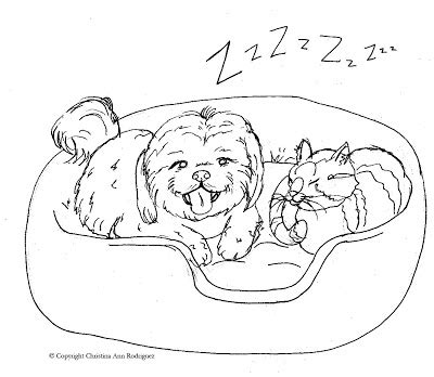 coloring pages of shih tzu dogs crod artblog color me sleepytime coloring page