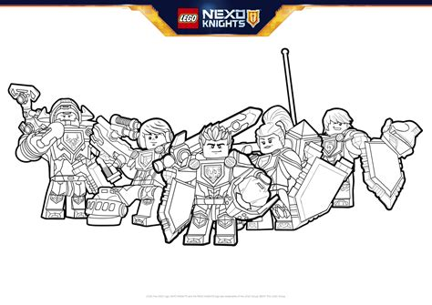 nexo knights coloring pages aaron nexo knights heroes formation 01 colouring page