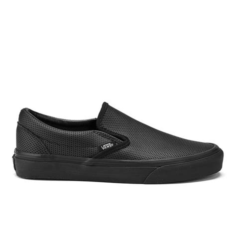 Kickers Zapato Slip On vans s classic slip on perforated leather trainers