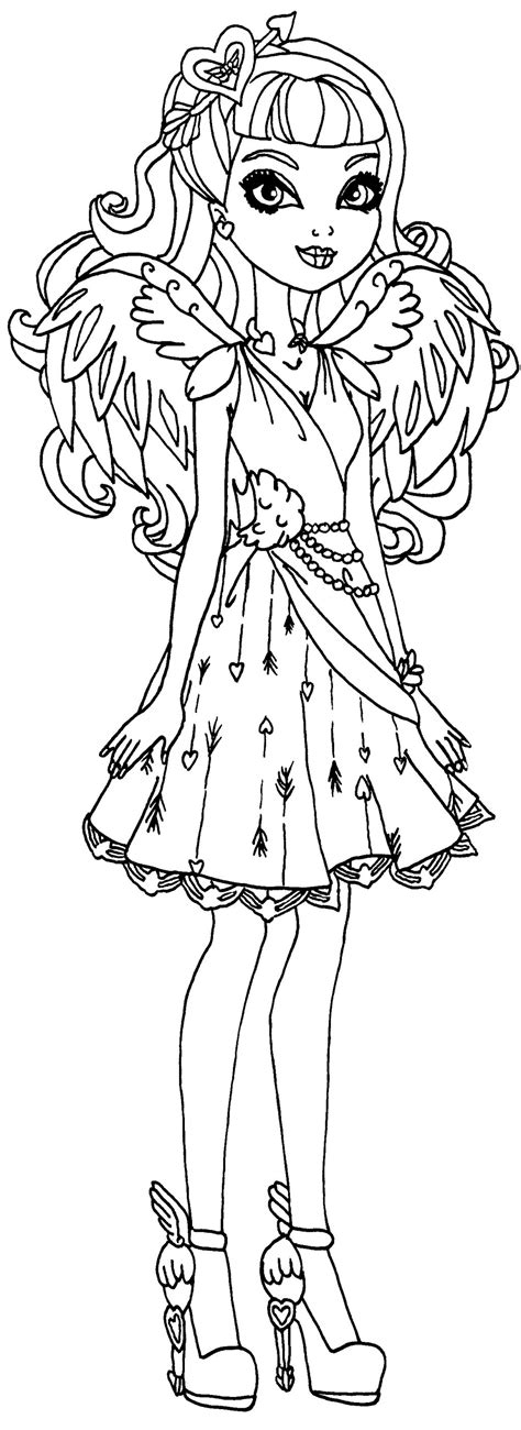 monster high coloring pages cupid c a cupid ever after high dance pinterest monster