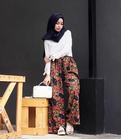 Rok Dan Blouse Etnik 1 inspirasi padu padan celana kulot untuk hijabers muslim