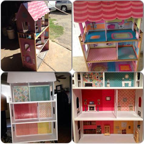 Kitchen Furniture Com diy garage sale kidkraft wooden dollhouse makeover
