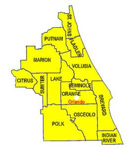central counties map central florida springs