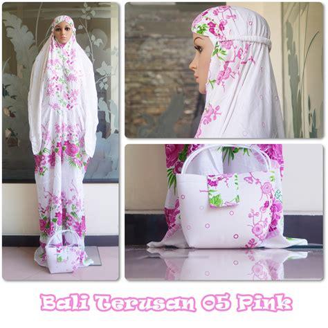 Mukena Bali Tulip Pink 1 jual mukena bali terusan 05 pink model terbaru 2018