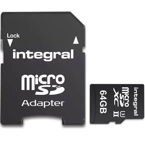 Micro Sd 64gb V integral 64gb ultimapro x2 v90 micro sd card sdxc uhs ii u3 adapter 280mb s 163 91 99 free
