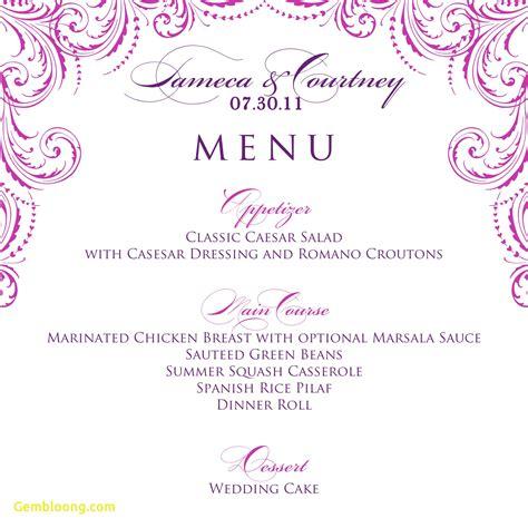 dinner menu template free unique free printable menu template best templates