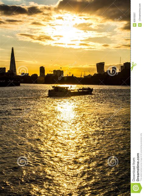 thames river cruise sunset barge boat on thames river london stock photo image