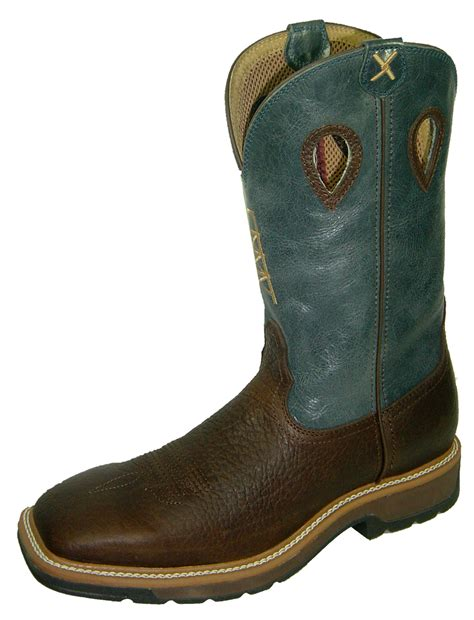 steel toe cowboy boots for twisted x blue cowboy steel toe work boots mlcs006
