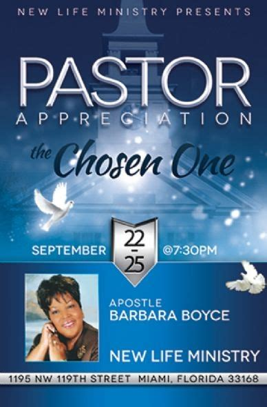 themes of love and honor pastor appreciation