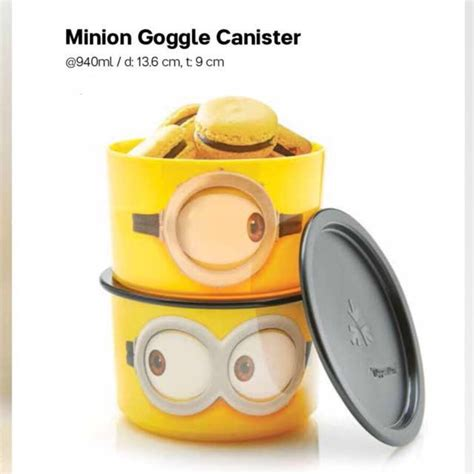Tupperware Canister 2pcs tupperware minion canister 940ml 2pcs kitchen appliances on carousell