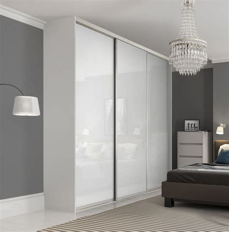 Premium Midi Single Panel Sliding Wardrobe Doors In Pure Sliding Glass Door Wardrobes