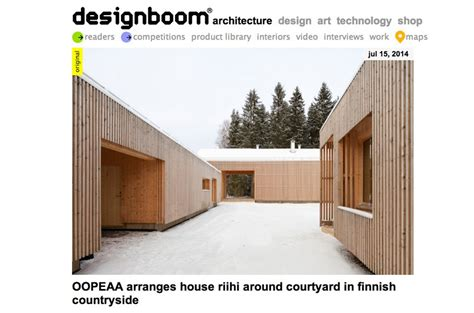 designboom houses oopeaa house riihi on designboom