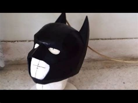 How To Make Batman Mask Out Of Paper - diy batman cowl part 3 sanding painting how to