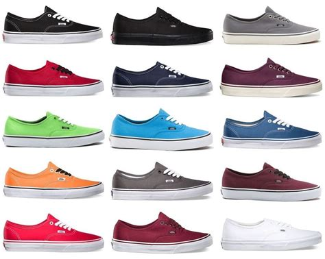 Vans The Wall Authentic Merah vans authentic era classic sneakers canvas mens the wall laces ebay