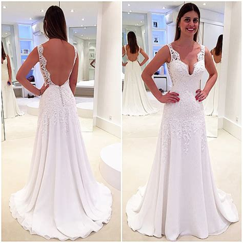 Tank Style Wedding Dresses by Stunning Sleeveless V Neck Wedding Dresses 2018 Lace