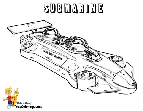 full force submarine coloring pages free submarine