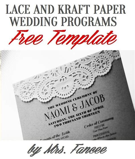Wedding Newspaper Template by Wedding Programs Kraft Paper Wedding And Wedding Program Templates On