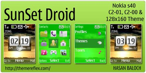 yellow themes for nokia c3 green icons themereflex