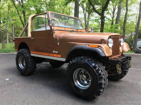 gold jeep gold 1979 jeep cj for sale