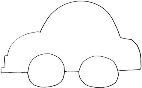 car template printable felt board shape city with houses cars where