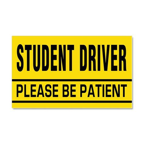 Australian Kitchen Designs student driver be patient car magnet 20 x 12 by