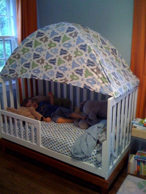Toddler Crib Tent turn an crib into a toddler bed diy projects for