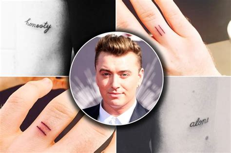 sam smith tattoo sam smith shows four new tattoos as he admits he feels