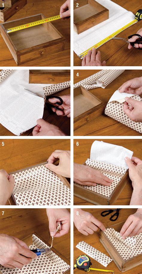 cassetti plastica brico foderare cassetti bricoportale fai da te e bricolage