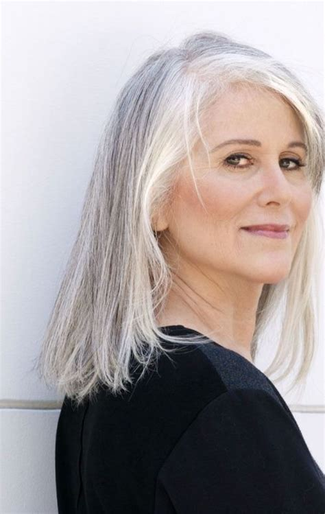shoulder length hairstyles gray hair cute easy and fashionable hairstyles for grey hair