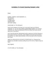 Business Letter Format Opening Invitation To Grand Opening Sle Letter Hashdoc