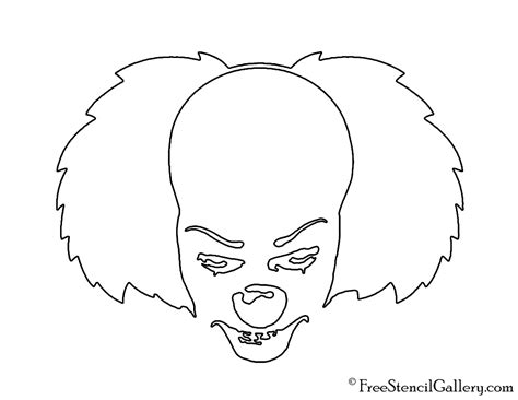 Printable Pumpkin Stencils Pennywise | it pennywise the clown stencil free stencil gallery