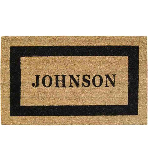 Personlized Door Mats by Personalized Coir Doormat In Doormats