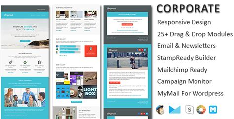 mymail newsletter templates corporate responsive email newsletter templates by