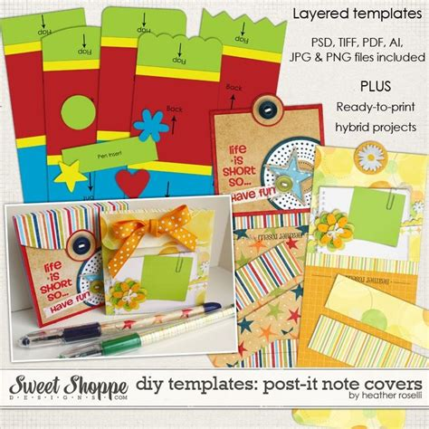 post it note cover template 123 best diy paper project templates printables images