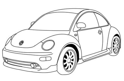 volkswagen beetle sketch volkswagen beetle line drawing sketch coloring page